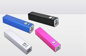 £3.99 instead of 10.99 for a 2600mAh Power Bank portable USB charger - choose from four colours and save 64%
