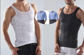 £9.99 instead of £79 (from Boni Caro) for a men's 'slimming' body-shaping vest- choose black or white and save 87%