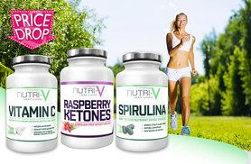 £10 instead of £50 for a one-month supply* of raspberry ketone, spirulina and vitamin C capsules, £22 for a three-month* supply - save up to 80%