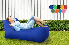 £44.99 instead of £138.96 (from UK Beanbags) for a chaise-style beanbag for indoor and outdoor use - choose from nine colours and save 68%