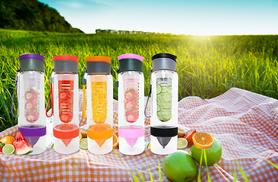 £5.98 (from Sashtime) for a 700ml fruit infusing water bottle with a citrus presser - save 73%