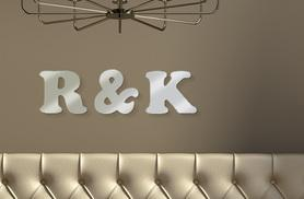 £3.99 for three personalised mirrored letters or numbers, £5.99 for five, £7.99 for seven - save up to 55%