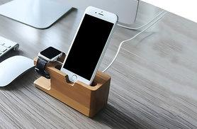 £7.99 instead of £28.99 for a Kegu wooden iPhone and Apple watch dock - save 72%
