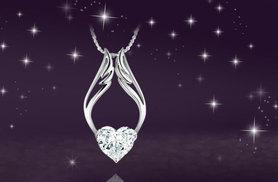 £6 instead of £39 (from Elle and Be) for an 18k white gold-plated angel pendant made with Swarovski elements - save 85%