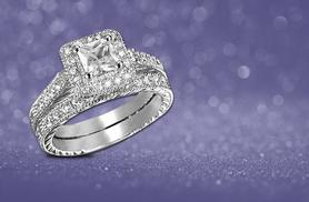£19 instead of £279.99 (from Girly Glitz) for a double cubic zirconia ring set - save 93%