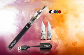 £9 (from GoHookah) for a three-piece premium Vision Spinner II e-cig kit with 1600mAH battery, £12 to include two 12mg e-liquids - choose from five colours and save up to 77%