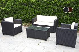 £249 instead of £799 for a four-piece Roma rattan garden furniture set - choose form two colours and save 69%