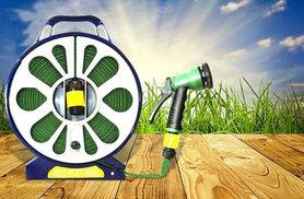 £6.98 instead of £39.99 for a 50ft lay flat garden hose with spray nozzle - save 83%