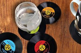 £3.98 instead of £19.99 for six vintage style rubber vinyl record coasters - save 80%