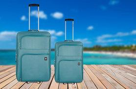 £49 instead of £94 (from Revelation) for a two-piece ultra-lightweight luggage set in teal - save 48%