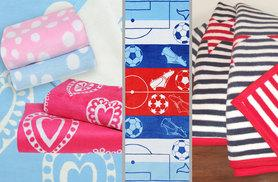 From £9.99 (from Slumberbugs) for a kids' soft fleece blanket - choose from 12 designs including blue or pink spots, jungle or zebra print and more and save up to 52%