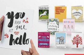 £14 instead of £119.70 (from Choosey) for a year's* supply of personalised A5 greetings cards - save 88%