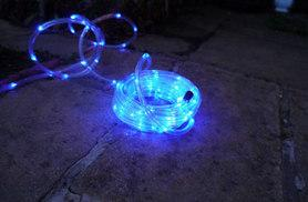 £9.99 instead of £80.99 (from LED Live) for a waterproof, solar-powered LED garden rope light - save 88%