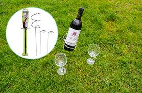 £5.99 instead of £29.99 (from Groundlevel) for a set of outdoor 'stake in the ground' wine glass and bottle holders - save 80%