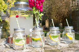 £12 instead of £29.99 (from Jean-Patrique) for a 7L retro dispenser jar, £19.99 to include four glass Mason drinking jars - save up to 60%