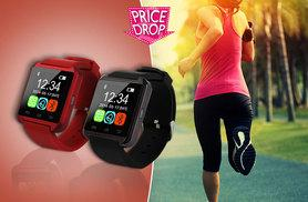 £14 instead of £99.99 for a Bluetooth smart watch - choose red or black and save 86%