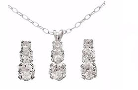 £12 instead of £29.99 for a sterling silver and cubic zirconia necklace and earrings set from The Online Jewellers - save 60%