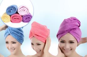 £4 instead of £25 (from Alvi's Fashion) for a microfiber hair towel wrap in blue, pink or purple, or £10 for all three - save up to 84%