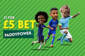 £1 for £5 in-store betting credit at Paddy Power - choose from over 300 locations and save 80%