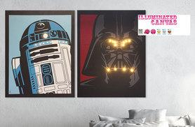 £16 instead of £39.95 (from Illuminated Canvas) for an LED <i>Star Wars</i> canvas - choose from three designs and save 60%