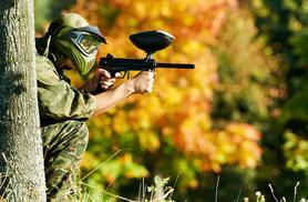 £5 instead of £49.75 for a paintballing day for five people including 100 balls and lunch each - save up to 90%