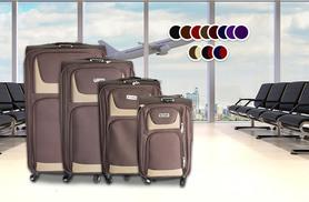 £69 instead of £543 (from Fakurma) for a four-piece lightweight luggage set - choose from two designs in 11 colours and save 87%