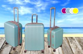 £65 instead of £449.99 (from MC California USA) for a three-piece luggage set - choose from four colours and save 86%