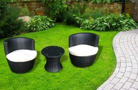 £159 instead of £499.99 (from Bisome) for a Marco Phillippe black rattan garden bistro set - save 68%