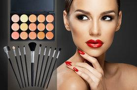 £10 instead of £92.98 (from SalonBoxed) for a contour palette in 15 colours, plus a 10-piece brush set - save 89%