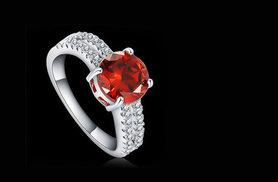 £16 instead of £199.99 (from Girly Glitz) for a red cubic zirconia ring - save 92%