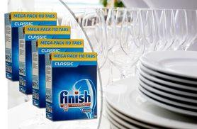 £9.99 for 110 Finish Powerball dishwasher tablets, £17.99 for 220, £26.99 for 330 or £34.99 for 440 - save up to 67%