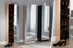£69 instead of £165 for a five-foot mirrored shoe cabinet, £79 for a six-foot cabinet from Deals Direct - choose from three colours and save up to 58%