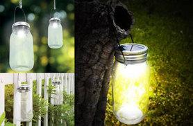 £9.99 instead of £24.99 (from Hungry Bazaar) for two solar-powered hanging mason jar lights, £17.99 for four - save up to 60%