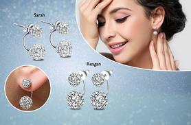 £6 instead of £55.01 (from Van Amstel Diamond) for a pair of silver earrings - choose from Reagan and Sarah designs and save 89%
