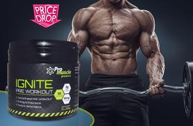 £11 (from Pro Muscle Products) for 250g of Ignite pre-workout - choose from four flavours