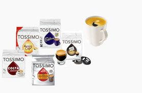 £19.99 for 72 Tassimo T Disc pods in Costa Americano, Kenco Colombian, Carte Noire Espresso Classic, Morning Café and Cadbury Hot Chocolate - perk up your mornings!