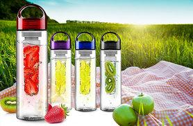 £3.98 instead of £19.99 for a 700ml fruit-infusing water bottle in a choice of five colours - stay hydrated and healthy and save 80%