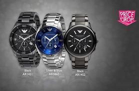 From £139 instead of £241.01 for a men's Emporio Armani watch - choose from five designs and save up to 42%