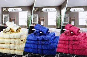 £12 instead of £69.99 (from Fusion Online) for a six-piece luxury Egyptian cotton towel bale, £14.99 for a 10-piece set - choose from 10 colours and save up to 83%