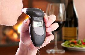 £3.99 instead of £32 for a digital keyring breathalyser with four reusable mouth pieces - save 88%