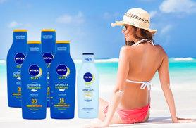 £27.99 instead of £54.35 (from ClearChemist) for a five-piece Nivea sun lotion bundle - save 49%