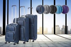 £85 instead of £175 (from Luggage Travel Bags) for a three-piece spinner lightweight Aerolite suitcase set - save 51%