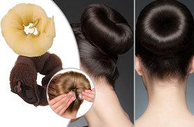 £3 instead of £14.99 for two two-piece Hot Donut Buns hair styling shapers from Deals Direct - choose from blonde or brunette and save 80%