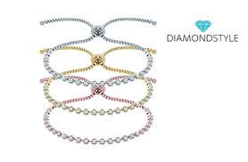 £14 instead of £125 (from Diamond Style) for an Indo bracelet made with Swarovski elements, or all three for £38 - choose from 3 colours and save up to 89%