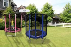 £39.99 instead of £129.95 (from Fun4Kids) for a 4.5ft Cortez trampoline with enclosure, £99 for 8ft, £124 for 10ft or £154 for 12ft - get bouncing and save up to 69%