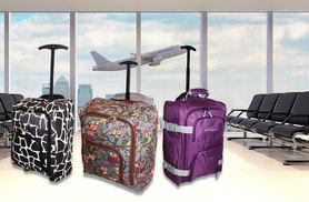 £10 instead of £43.99 (from Trendy Look) for a cabin-approved wheelie hand luggage piece - choose from six designs and save 77%