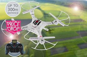 £46.99 instead of £167.07 (from Globi Toys) for a Pilot 360 long distance remote-controlled drone quadrocopter with photo and video surveillance - save 72%