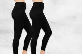 £6 instead of £29.98 (from Nothing New 2 Wear) for two pairs of black fleece-lined leggings - save 80%