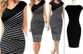 £9.99 instead of £29.99 for a black and white bodycon dress - save a stylish 67%