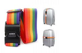 £4.99 instead of £24.99 for two luggage straps with integrated combination locks - choose black or multicoloured and save 80%